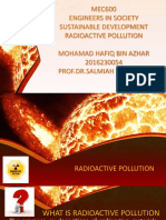 MEC600 ENGINEERS IN SOCIETY SUSTAINABLE DEVELOPMENT (RADIOACTIVE POLLUTION)