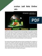 Aplikasi Taruhan Judi Bola Online Android Gratis1