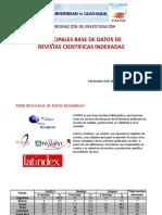 Principales Bases Datos de Revistas Cientificas Indexadas