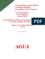 1ra Clase Agua, Elecctrolitos, PH, Solución Tampon EAP OBST 2016