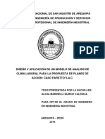 DISEÑO Y APLICACIÓN DE UN MODELO DE ANÁLISIS DE CLIMA LABORAL PARA LA PROPUESTA DE PLANES DE ACCIÓN