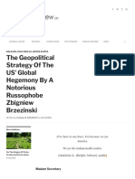 20181120 the Geopolitical Strategy of the US' Global Hegemony by a Notorious Russophobe Zbigniew Brzezinski _ OrientalReview.org