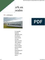 Baja Del 30% en Ingresos Locales