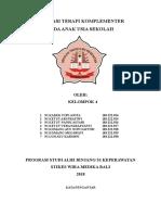 Tugas Makalah Keperawatan Komplementer Temu 3 Kelompok 4
