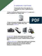 Definición de Hardware y Software