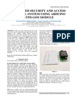 RFID BASED SECURITY AND ACCESS CONTROL SYSTEM USING ARDUINO WITH GSM MODULE