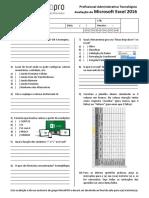 Avaliação de Microsoft Excel 2016