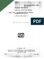Is 2720-PART XXV-1982 Determination of Silica Sesquioxide Ratio
