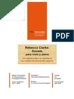 Sonata Rebecca Clarke. Análisis