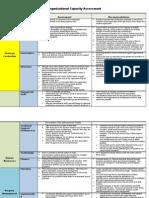 Organizational Capacity Assessment