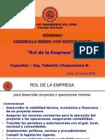 Rol de La Empresa Seminario Desarrollo Minero Con Gestion Social20032018