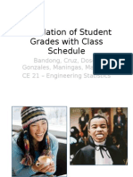 Correlation of Student Grades With Class Schedule