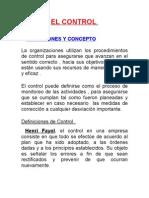 Proceso Administrativo - Control