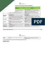 Rúbrica de Evaluación Final de Paper