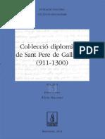 Col·lecció Diplomàtica de Sant Pere de Galligants (911-1300) Vol. II