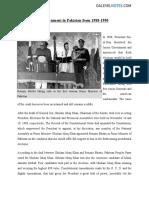 Gov in Pakistan 1988 1990