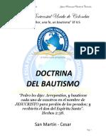 Doctrina Del Bautismo