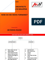 Sharing research Dealing With Architects Remuneration in Malaysia by Ar Ridha Razak