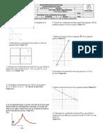 Examen preliminar al tema de la ecuación de la recta