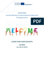 Guide for Participants - Appetiser, 24.-28.11.2015