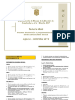 Temario Ago 2018 Musica Universidad Guanajuato Ug Ugto