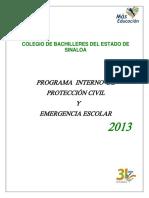 PROGRAMA INTERNO DE PROTECCIÓN CIVIL Y EMERGENCIA ESCOLAR