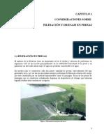 Consideraciones Sobre Filtración y Drenaje en Presas