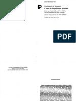 07. Cours de Linguistique Generale - Saussure (1).pdf