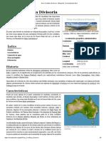 Gran Cordillera Divisoria - Wikipedia, La Enciclopedia Libre