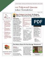 Red River Pulpwood Queens October Newsletter