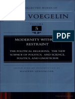 Eric Voegelin Modernity Without Restraint