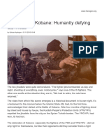 13199 the Battle of Kobane Humanity Defying Darkness