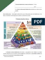 Pirâmide Mediterrânica e Roda Dos Alimentos - Resumo - CN 6