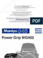 Mamiya 645 Power Grip Wg402
