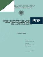 LLORENS - Estudio Comparativo de La Técnica Vocal Entre Los Profesionales Españoles Del Canto Del...