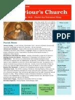 st saviours newsletter - 25 november 2018