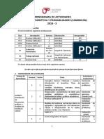 Cronograma de Actividades_ Estadística Descriptiva y Probabilidades 2018-3-1