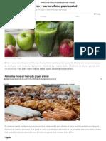 18 Alimentos Ricos en Hierro y Sus Beneficios Para La Salud - E-Consejos
