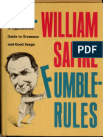 Fumblerules a Lighthearted Guide to Grammar and Good Usage