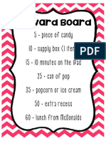Behavior Management Reward Board