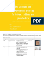 The Ultimate List of Montessori Activities for Babies Toddlers and Preschoolers