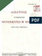 Buletinul Comisiunii Monumentelor Istorice, An 33 (1940)