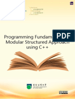 Modular Structured Approach of Programing Fundamentals