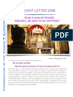 Advent Letter 2018 to Congregation of the Mission members