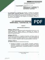 PROYECTO DE LEY ORGÁNICA DE ORDENAMIENTO TERRITORIAL Y GESTIÓN DEL TERRITORIO