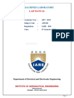 IARE AC Machines Lab Manual