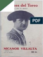 Ases Del Toreo- Nicanor Villalta