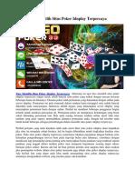 Tips Memilih Situs Poker Idnplay Terpercaya