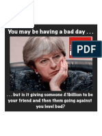 The DUP Last Night Stopped Holding Up the Tory Government, And You Thought You Were Having a Bad Day