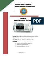 Informe Sobre Generador de Señales